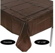Brown Plastic Table Cover