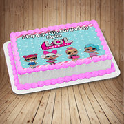 lol surprise dolls  edible cake image