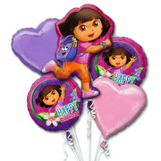 Dora the Explorer Mylar Balloon Bouquet