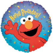 Elmo Happy Birthday Mylar