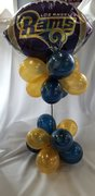 Football Balloon Centerpieces