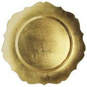 Gold Scalloped Edge  Charger Plate