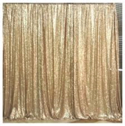 gold sequin pipe and drape