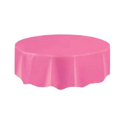 Hot Pink  Plastic Round  Table Cover