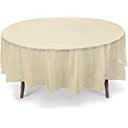 Ivory Plastic Round  Table Cover