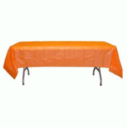 Orange  Plastic  Table Cover