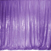 purple sequin pipe and drape