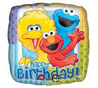 Sesame Street Happy Birthday Mylar