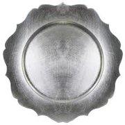 Silver Scalloped Edge  Charger Plate