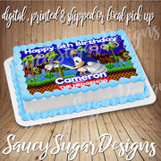 sonic the hedgehog edible cake image