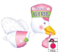 its a girl stork jumbo mylar