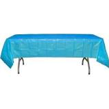 Turquoise  Plastic  Table Cover