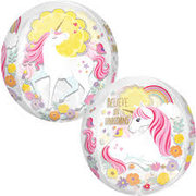 Unicorn  Clear Bubble Balloon