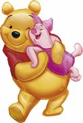 Winnie the Pooh and Piglet Jumbo Mylar