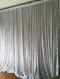 silver  sequin pipe and drape