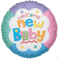 Welcome New Baby Mylar
