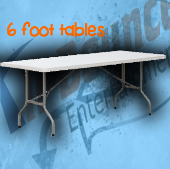 6' tables