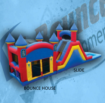 Double Play B: bounce house and slide