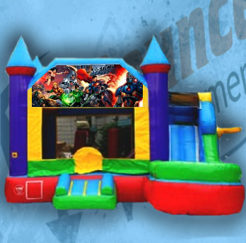 Justice League Bouncy Castle Combo