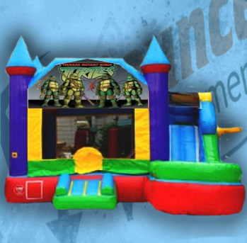 Ninja Turtle Bouncy Castle Combo
