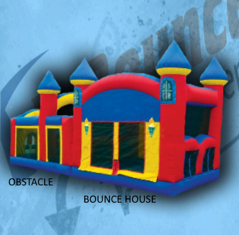 Double Play A: bounce house and obstacle