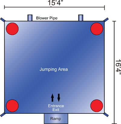 Cars Bounce House Layout