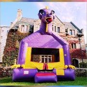 Purple Dino Bounce House