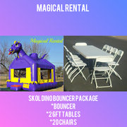 Purple Dinosaur Bounce House  Special Package