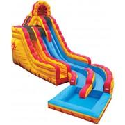 20 Foot Dual Lane Water Slide - Fire N' Ice!