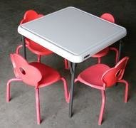 Kids Table w/ 4 Red Chairs