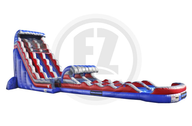 Stars and Stripes Water Slide with Slip and Slide & Pool-32 FT (New for 2021 JUNE 15}