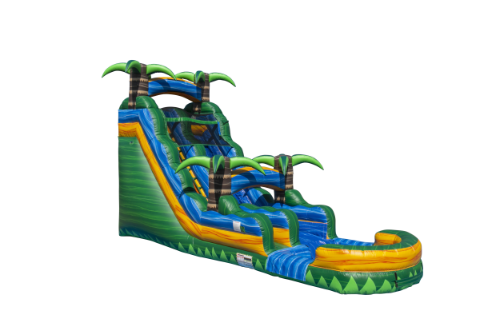 Tropical Emerald Water Slide with Pool-18 FT