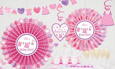 PS Baby Shower Its A Girl Banner