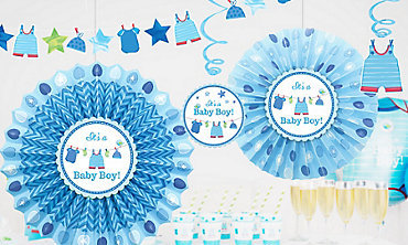 PS Baby Shower Its A Boy Banner