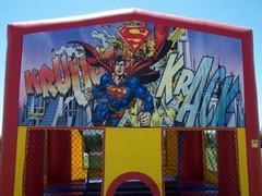 Superman Rainbow Bounce House