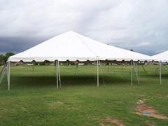 30x30 Frame Tents White