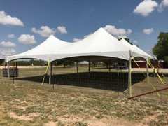40x40 HP Frame Tent White [Two 20x40 Tents]