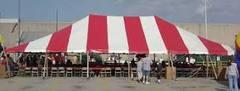30x90 Pole Tent Red &White