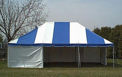 20x40 High Peak Frame Blue White Tent