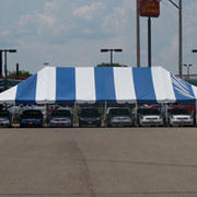 60 x 120 Blue and White Pole Tent