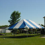 30x90 Pole Tent  Blue &White