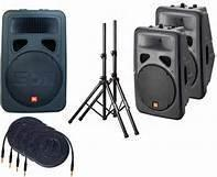 JBL EON PA Speaker System with Stands