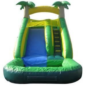18ft Tropical Wet Slide with Pool