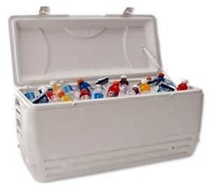 Party Cooler with Ice