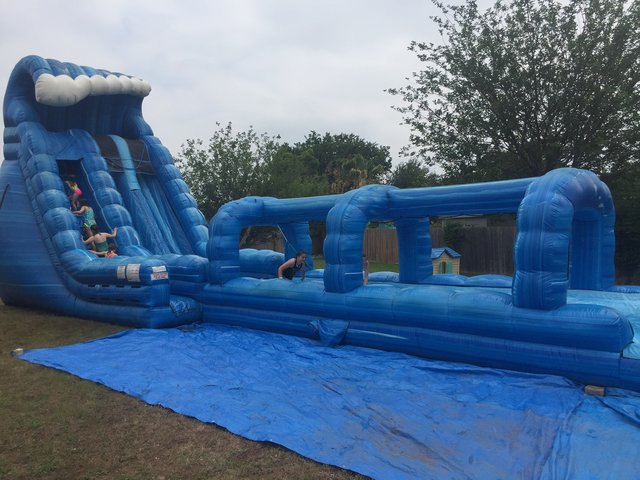 Blue Crush!  22' Water Slide with Slip'n'slide & Pool