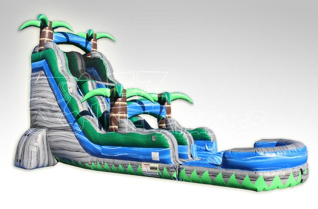 Cascade Crush!  18' water slide w pool