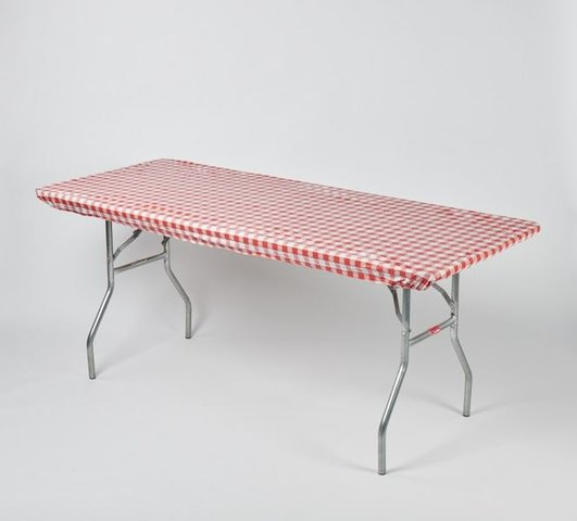 Red Gingham Easy Cover for 6' Rectangular Table