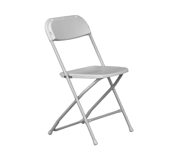Package: Set of 10 adult white chairs