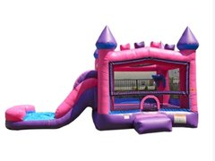 Backyard Bounce n Slide, Pink & Purple Dry Combo