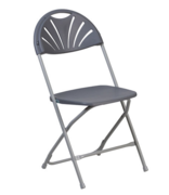 PICKUP ONLY: Adult Chair - Gray Fanback